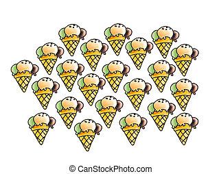 ice cream - many ice-cream, small