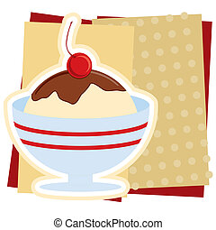 Ice Cream Sundae Illustration - Illustration of an ice cream...