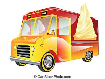 ice cream van isolated on a white background