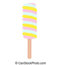 Ice cream. Vector illustration.