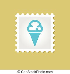 Ice Cream vector stamp