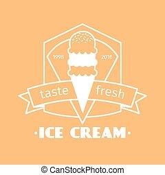 Ice cream vintage logo