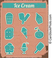 Ice Cream - Vintage set labels