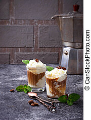 Ice cream with coffee