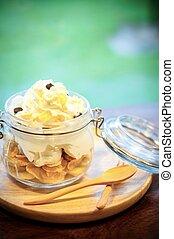 ice cream with corn flakes