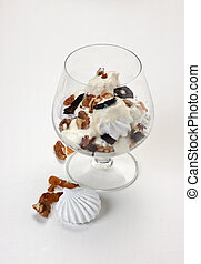ice cream with prunes and walnuts