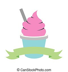 ice cream with spoon