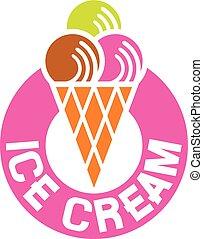 (ice, crema, icon), ghiaccio, etichetta