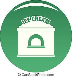 Ice creme trade icon vector green - Ice creme trade icon....