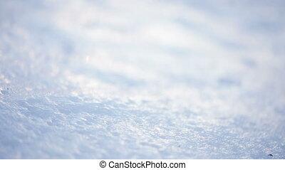 Ice crust on snow - In backlit sun crust of ice on ice