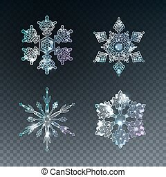 Ice Crystal Snowflakes