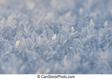 Ice crystals - close up of ice crystals in snow