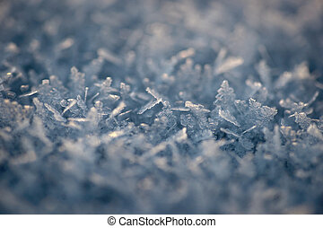 Ice crystals - Close up of ice crystals