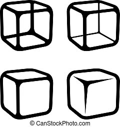cube clipart black and white. ice cube black symbols illustration for the web clipart and white