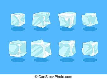 Ice Cube Clip art Vector Premium