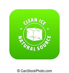 Ice cube icon green