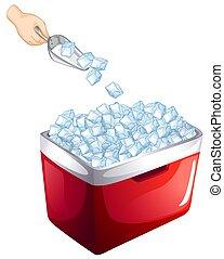 Ice cube on white background