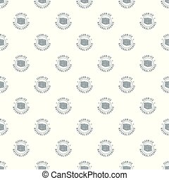 Ice cube pattern vector seamless repeat for any web design