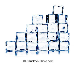ice cubes isolated on white - ice cubes isolated on a white...