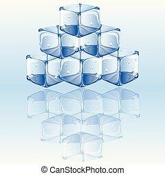 ice cubes vector illustration.