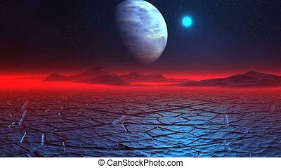 Ice Desert on the Alien Planet