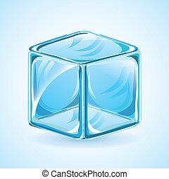 Ice design over blue background, vector illustration