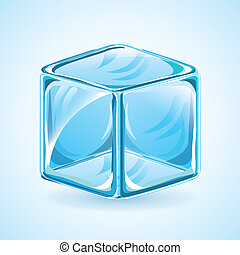 Ice design over blue background, vector illustration