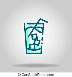 ice drink icon or logo in  twotone - Logo or symbol of ice ...