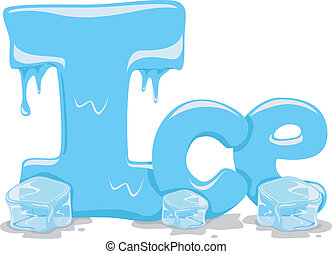 Ice - Text Illustration Featuring the Word Ice