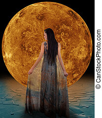 Ice fairy in front of a Venus. Elements of this image...