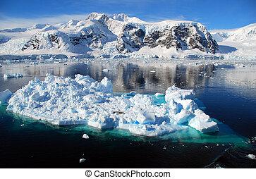 ice floe in antarctica