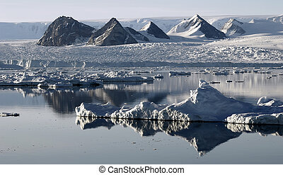 Ice floe resembling mountains
