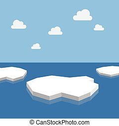 Ice floes in the sea