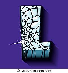 Ice font -letter L