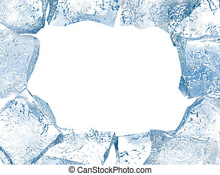 Beautiful abstract ice frame for photos