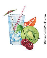 Ice-glass wiht fruits