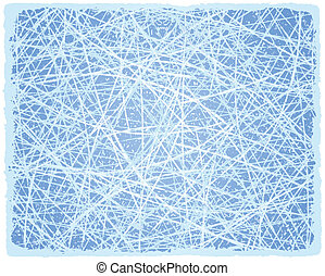 Ice grunge background with lines. Vector illustration.