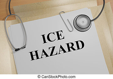 Ice Hazard - medical concept