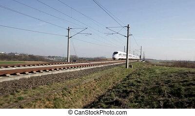 ICE Highspeed train - An ICE Highspeed train passes