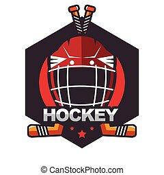 Ice Hockey badge, logo, emblem template for business