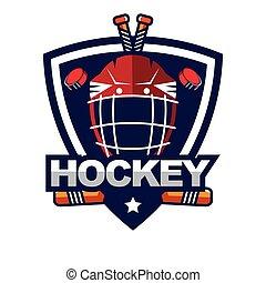 Ice Hockey badge, logo, emblem template