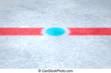 Ice Hockey Centre - A 3D render of the center mark of an ice...