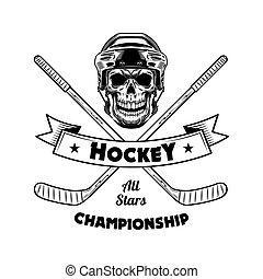 Ice hockey championship symbol vector illustration