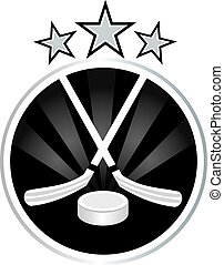 Ice hockey emblem design illustration vector