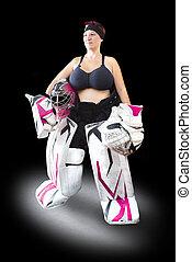 Ice Hockey Goalie - Beatiful Female model