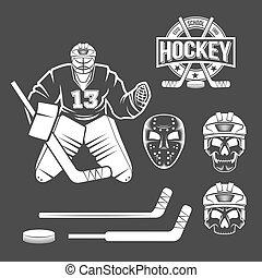 ice hockey goalie elements