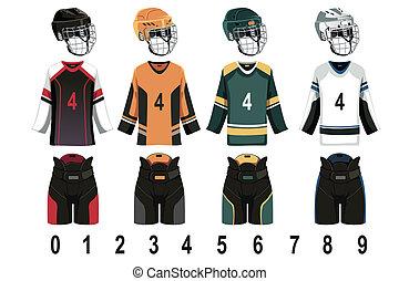A vector illustration of ice hockey jersey