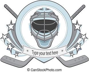 Ice hockey labels, badges. Ice Hockey emblem