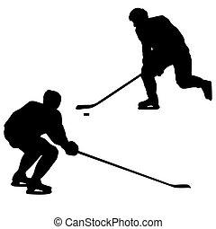 Ice hockey players. Vector illustration