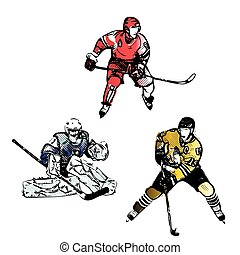 ice hockey players